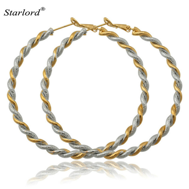 new fashion big hoop earrings gold color 2 tone fashion jewelry basketball wives big round earrings - Basketball Pictures To Color 2