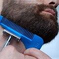 Формирование Инструмент Человек Джентльмен борода Борода Отделка Шаблон Волосы Вырезать Синий С Расческой