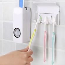 Держатель для зубных щеток для ванной модный автоматический диспенсер для зубной пасты с пятью стойками и настенным креплением для семейных наборов