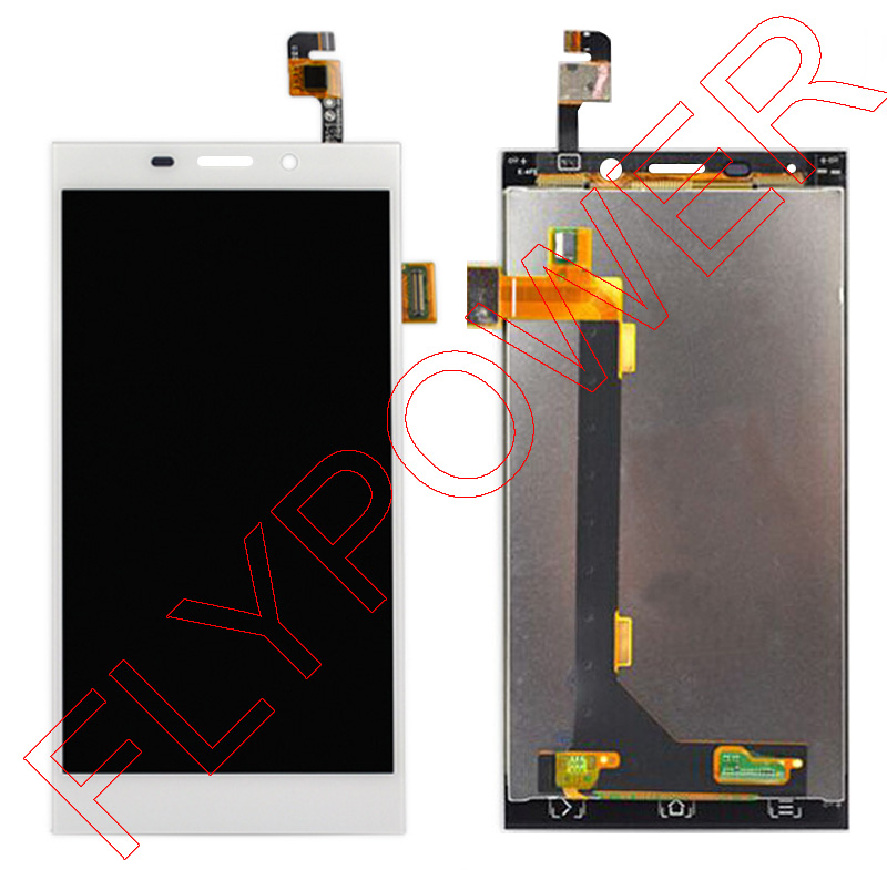 For Gionee Elife E7 LCD Screen Display With White Touch Screen Digitizer Assembly By Free Shipping; 100% Warranty for jiayu s2 lcd screen display with white touch screen digitizer assembly by free shipping 100