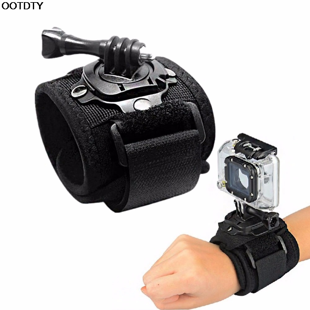 360 Degree Rotation Wrist Hand Strap Band Holder W/Mount For GoPro 1 2 3 3+ 4 #L060# new hot protective pc back case w 360 degree rotation hand strap holder for ipad 3 4 white