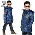 XIAOYOUYU Boy Chaqueta de Algodón Acolchado de Invierno Abrigos Niños Sudadera Con Capucha Parkas Tamaño 110 120 130 140 150 cm Azul Negro orange