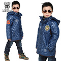 XIAOYOUYU Boy Winter Jacket Cotton Padded Coats Children Kids Hooded Parkas Size 110 120 130 140 150 cm Black Blue Orange