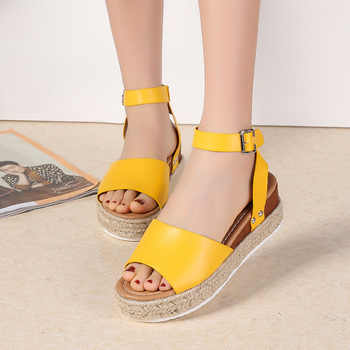 Ho Heave 2019 Popular Marine Rope Slope Heel Light Sole Sandals Size 35-40 Women Comfortable Sandals Single Buckle Sandals - DISCOUNT ITEM  0% OFF All Category
