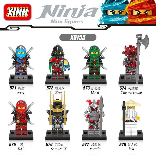 NINJAGO Lloyd Nya Krux Kai Samurai X The Wei Snake Wu