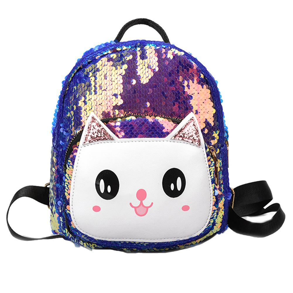 Children Girl Cartoon Cat Backpack Sequined Travel Small School Shoulder Bag Children Girl Cartoon Cat Backpack Sequined Travel Small School Shoulder Bag