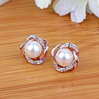 AEotaku 925 Silver Jewelry Pearl Earrings Female Sterling Silver Sterling Silver Earrings Female Buckle Fashion Pearl
