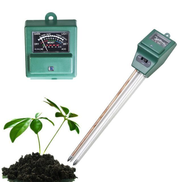 ACEHE Digital PH Meter 3 in 1 plants Flowers Soil Water Light Tester Sensor Monitor for Aquarium Indoor Garden Plant Flowers