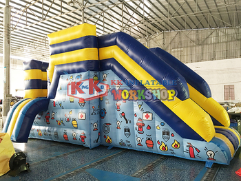 inflatable slides&castles pvc inflatable castle Fire simulation jumping platform escape trampoline