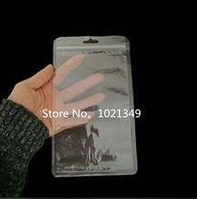 3000pcs13.5*24cm Zip lock clear Self Sealing Plastic packaging Bag Sundries Storage Waterproof bag zipper bags zip poly