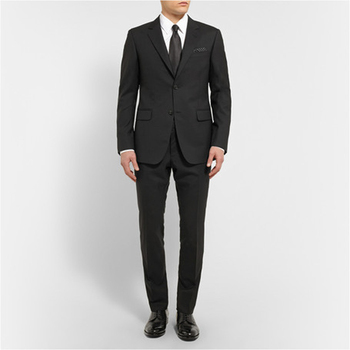 Slim Fit Groom Tuxedos For Men Two Pieces Notched Lapel Single-breasted Three Pockets Morning Suits (jacket+pants+tie)