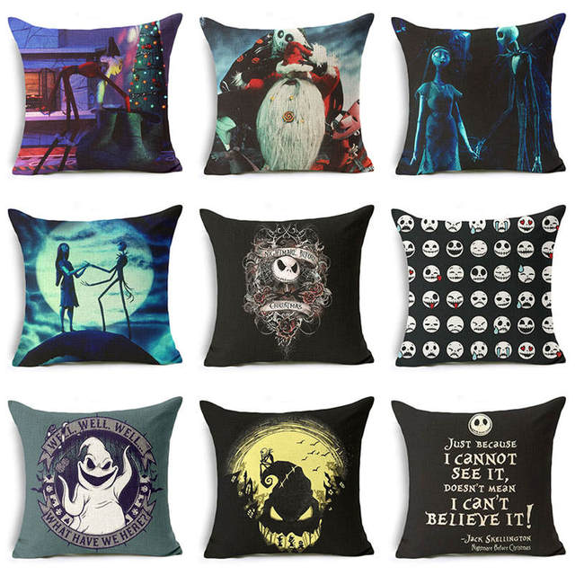 The Nightmare Before Christmas Pillow Case Cushion Pillow Sofa