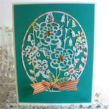 Eastshape Cheerful Garden Flower Metal Cutting Dies Scrapbooking Card Making Album Embossing Crafts New Frame Circle