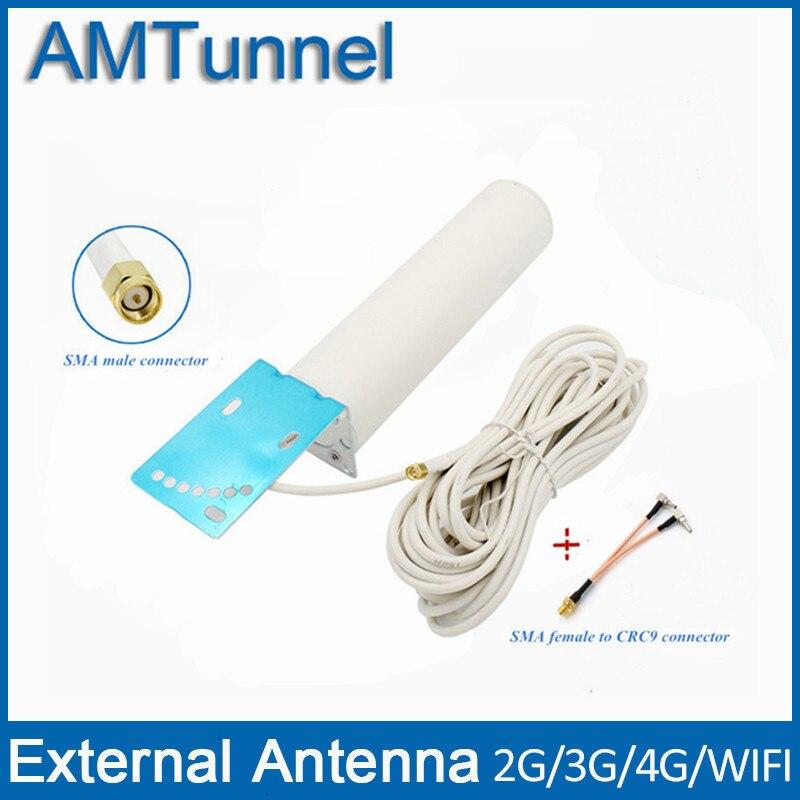 4G LTE antenne 3G 4G externe antennna SMA mâle avec 10 m câble et SMA femelle à CRC9 connecteur pour 3G 4G routeur modem