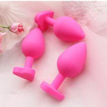 Kit de tapón Anal para mujeres, Juguetes sexuales de silicona de grado médico, 100% travieso, tapón Anal, Adorable Corazón