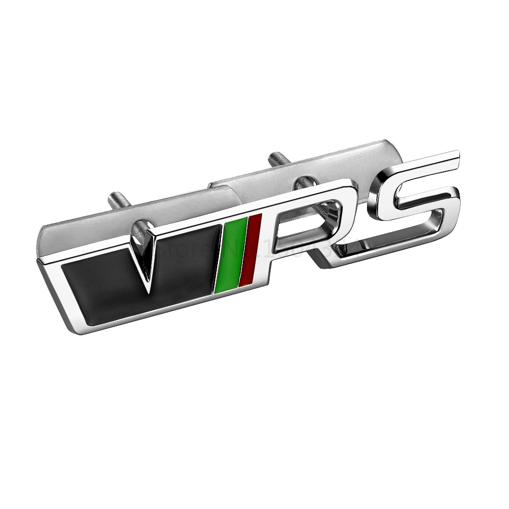 Metal VRS RS front grill emblem sticker Badge for Skoda Octavia a5 2 a7 Rapid Fabia Superb Yeti Roomster auto car accessories