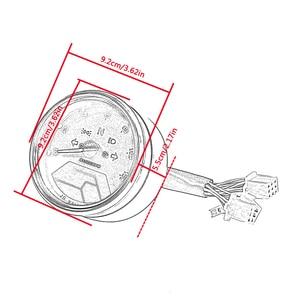 Image 5 - Universal Waterproof LCD Motorcycle Digital Speedometer 12000RPM 8 18V Gear Tachometer Meter Odometer For Yamaha nmax xmax aerox