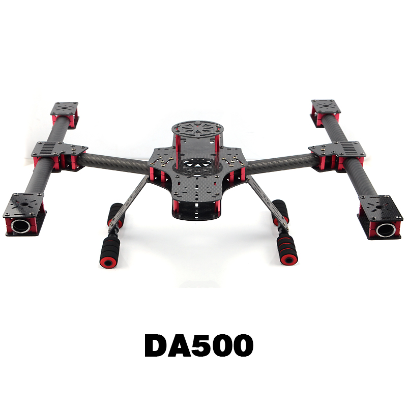 DIY DA500 Carbon Fiber Quadcopter Frame Kit X4 X8 Frame set for FPV Photography RC model Hobby Frame Drone Multicopter Airplane realacc kt100 100mm carbon fiber frame kit for rc quadcopter multirotor fpv camera drone x type frame accessories purple