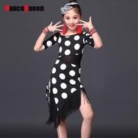 2016 Dress Kids For Latin Dance Children Costumes Latino Dance Dress Girls Ballroom Dance Dresses Girl