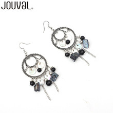 Bohemian Handmade Beads Tassel Earrings Dangle For Women Drop Earrings Ethnic Statement Vintage Brincos Boho Jewelry