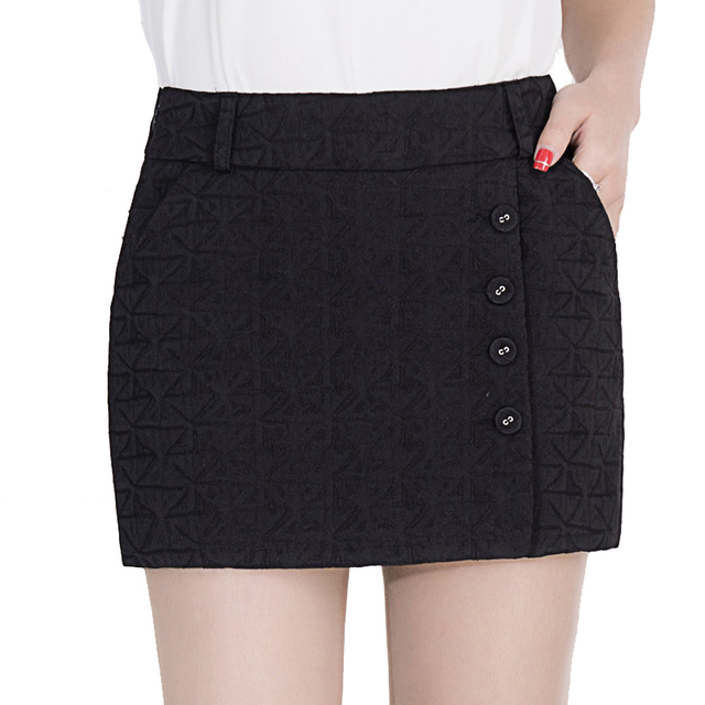 2016 Nova Primavera Chegada Shorts Saias Moda Casual Plus Size Meados Calções das Mulheres 2 cores