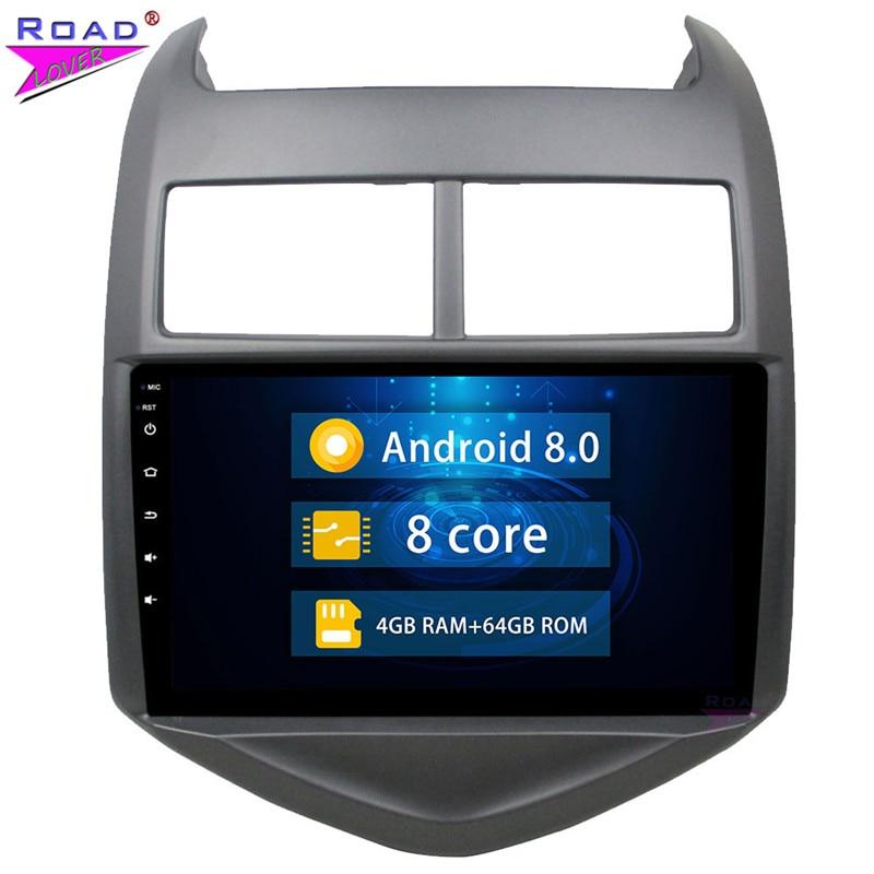2 Din Android 8.0 lecteur Radio de voiture pour Chevrolet AVEO 2011 2012 2013 2014 2015 stéréo GPS Navigation Autoradio unité de tête sans DVD