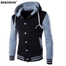 ROKEDISS Hooded Men's 2017 Brand Male Long Sleeve Hoodie Sweatshirt Men's Slim Stitching pattern Men's Hoodie Sportswear Z145