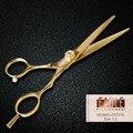 Высокое качество золото волос салон профессиональный ножницы ювелирные изделия винт резки ножницы из нержавеющей стали бесплатная доставка
