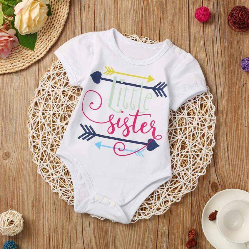 2017-es nyári stílust bébi romperek Baby lányok ruhák pamut - Bébi ruházat