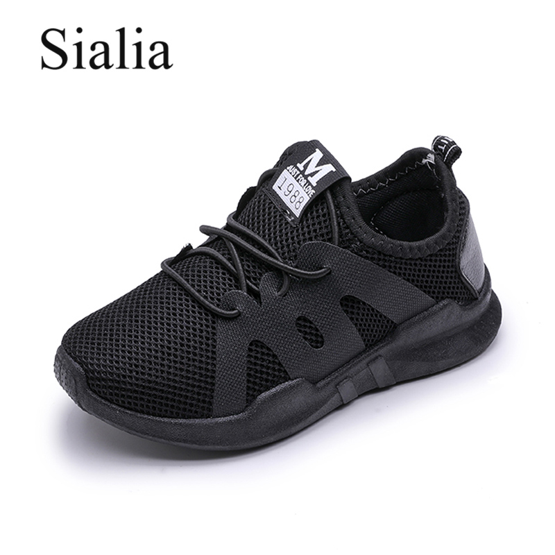 Sialia Fashion Boys Sneakers Girls Shoes For Kids Sneakers Children Shoes Summer Breathable Mesh Lace-up Toddler Sapato Infantil