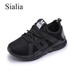 Sialia moda Zapatillas Zapatos niños niñas para niños zapatillas niños zapatos verano transpirable malla encaje-up niño sapato infantil