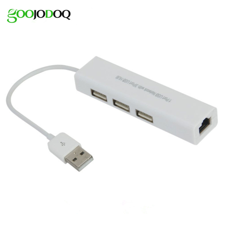 USB Ethernet with 3 Port USB HUB 2.0 RJ45 Lan Network Card USB to Ethernet Adapter for Mac iOS Android PC  RTL8152 USB 2.0 HUB xiaomi usb 2 0 ethernet adapter usb to rj45 lan network card for windows 10 8 8 1 7 xp mac os laptop pc chromebook smart