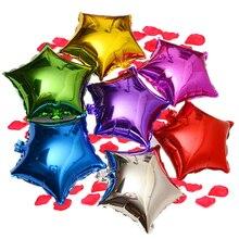 Vente chaude 5 pièces 18 pouces hélium ballon étoile mariage grand aluminium feuille ballons gonflable cadeau anniversaire fête décoration balle