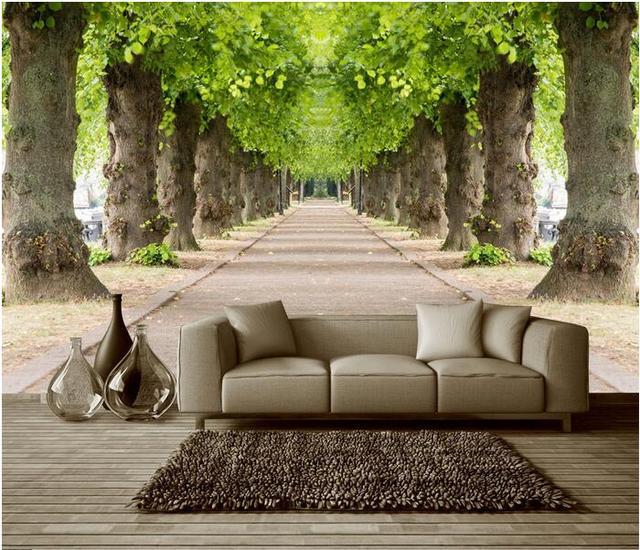3d Tapete Nach Wandbild Vlies 3d Zimmer Tapete Wald Strasse 3 D Raum