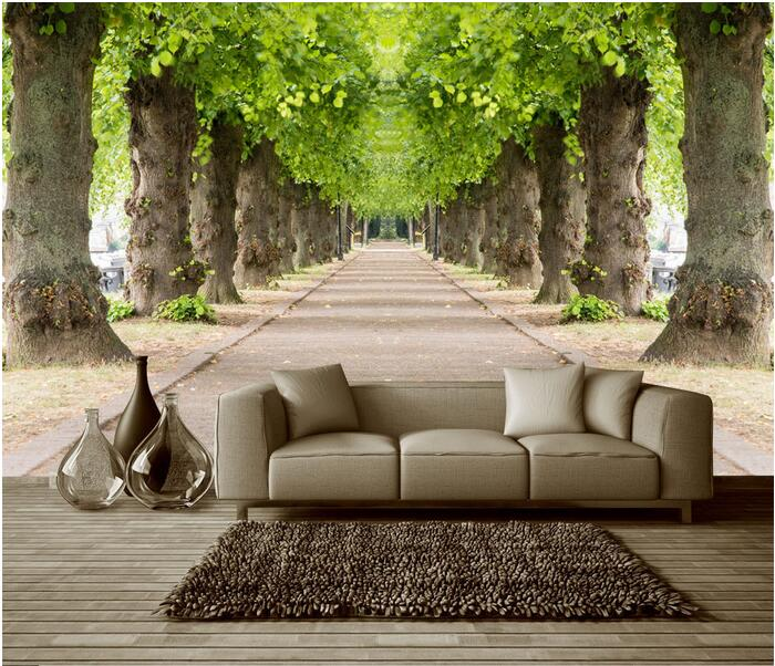 Buy 3d wallpaper custom mural non woven for Custom wall photo mural