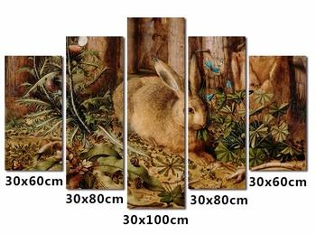 5pcs/set 5D diamond embroidery Cute hare wall canvas painting,Diy 5d diamond Painting,diamond cross stitch wall stickers фото