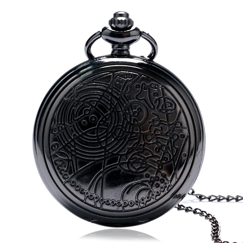 High Quality Famous Doctor Who Design Watch  Retro Bronze/Silver/Black Dr. Who Quartz Pocket Watch Unisex Pendant Necklace Gifts