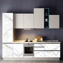 Cabinet sticker Old furniture refurbished PVC waterproof high temperature resistance imitation marble decorative