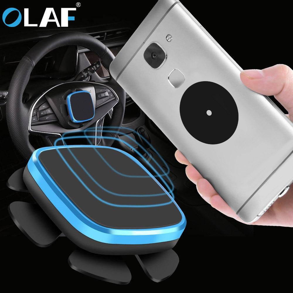 Олаф металлические Универсальный Автомобильный держатель для мобильного телефона магнит Алюминий сотовый телефон магнитные пластины сил…