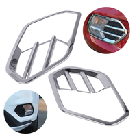 DWCX 2Pcs Car Styling ABS plastic with bright chrome finish Plated Front Fog Light Lamp Cover Trim for Ford Escape / Kuga 2017