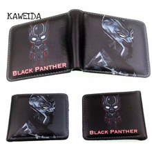 hot deal buy 2019 new marvel black panther wallets children men bifold short wallet with money coin pocket for kids boys girl teen best gifts