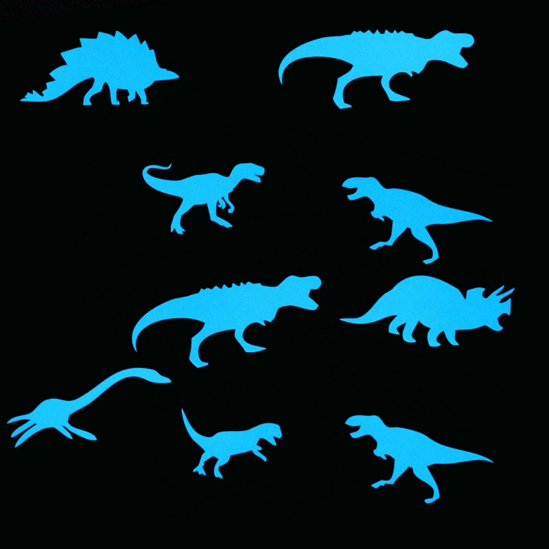 Glow in the Dark Dinosaur Sticker Home Decor Luminous Wall Sticker Kids Room Decoration Decal Baby Children Bedroom Ceiling DIY