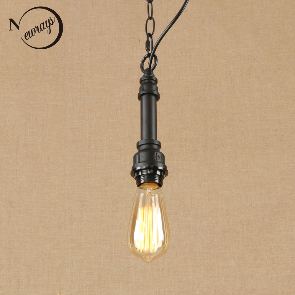 Retro industrial lron black hanging lamp LED Pendant Light Fixture E27 220V For parlor hotel dining room bedroom loft cafe path стоимость