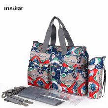 2017 NEW arrival Fashion Mother Bag Baby Nappy Bags Large Capacity Maternity Mummy Diaper Bag Cotton