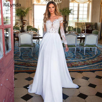 Wedding Dress Boho Long Backless White Wedding Dress Appliques Lace Sweetheart Princess Bride Dress Free Shipping