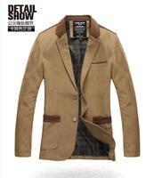 Hot Sale New Sping Fashion Brand Red Blazer Men Casual Suit Jacket Splice Men Slim Fit Suits Two Button Men Suit