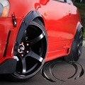 4x черный универсальный крыло вспышки гибкий прочный полиуретановый автомобильный комплект кузова
