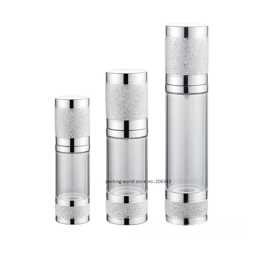 Tapa de la bomba de plata de cuerpo transparente sin botella de 30 ml - Herramienta de cuidado de la piel