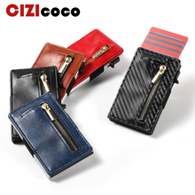 2019 Women Men Credit Card holder Anti-theft Business Holder for Plastic Cards Purse Automatic Wallet