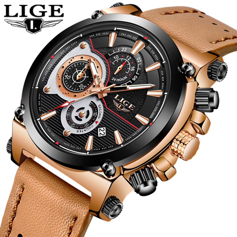 Aliexpress.com : Buy LIGE Gold Watch Men Luxury Brand